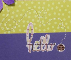 Butterfly Spring Card: Accent With White Pen