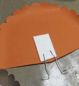 Turkey Place Cards - Attach Foam Tape & Props to Large Tail Feathers