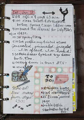 art journal planner week 3 learning as i go the artful crafter