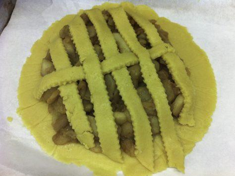 Making the lattice crust