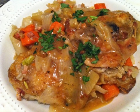 Wine-Braised-Chicken