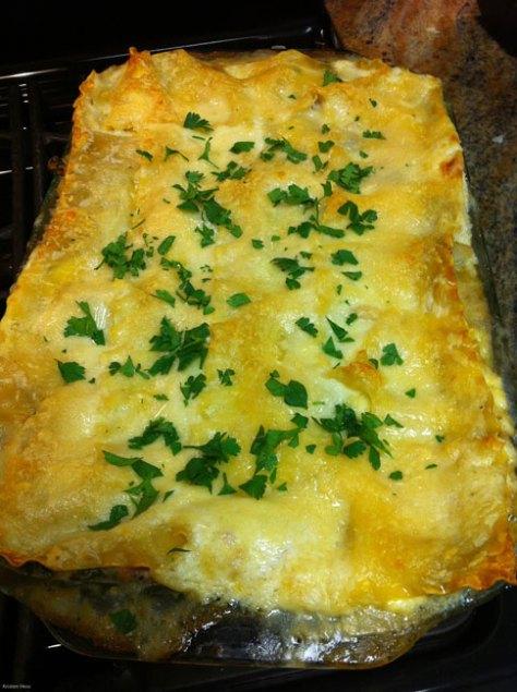 Chicken, Spinach & Wild Mushroom Lasagna