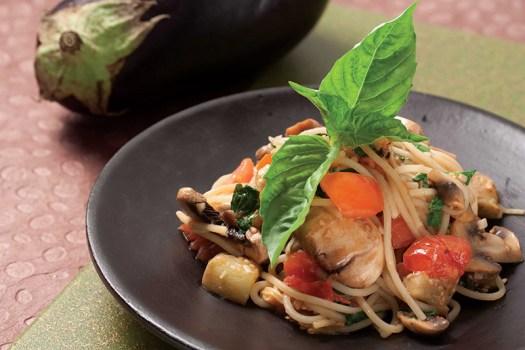 Spaghetti with Eggplant Marinara