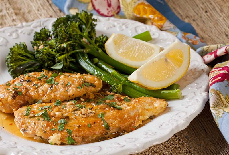 Rochester,Style Chicken French \u0026 Lemon Broccolini