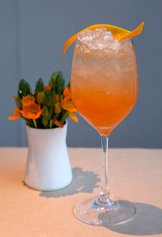 blood orange french 75 -photoKHESS