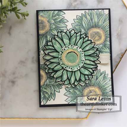 Stampin Up Celebrate Sunflowers in Mint Macaron Shop for Stampin Up with Sara Levin at theartfulinker.com