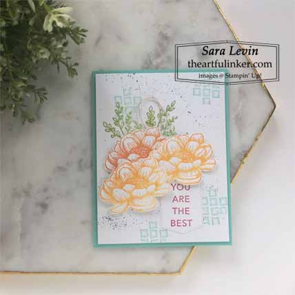 Stampin Up Tasteful Touches for The Spot Creative Challenge Shop for Stampin Up with Sara Levin at theartfulinker.com