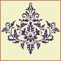 Damask Stencil designs are elegant at The Artful Stencil ...