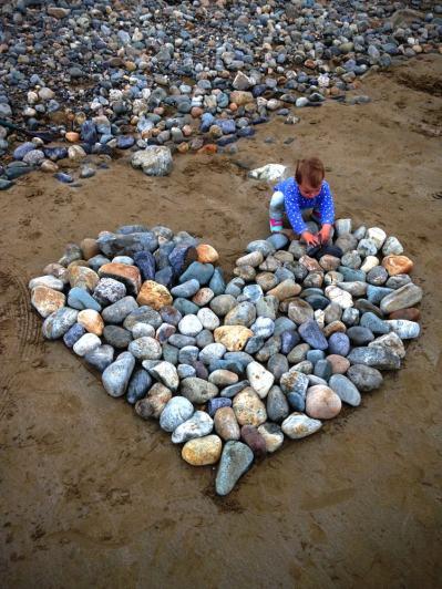 Beach Art Heart Waterford Ireland