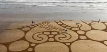 Freedom Surf School Sand Art