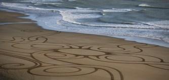 Sand Art Sean Corcoran The Copper Coast Waterord Beach Ireland 24