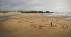 Sand Art Sean Corcoran The Copper Coast Waterord Beach Ireland 28