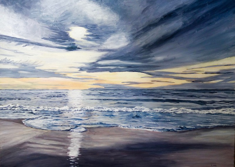 Pacific Sunset by Kathy Nay