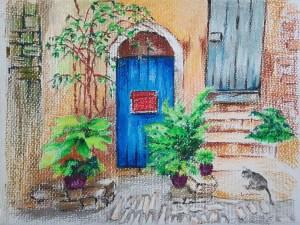 The Cat is Peeking by Loran Tsang