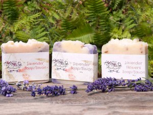 Lavender Flowers Soap by Patti Lawn