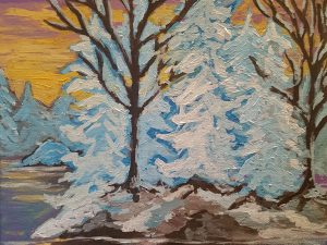 Winter Sunset by Wendy Capp