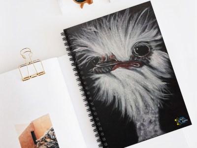Ostrich with Attitude Spiral Notebook