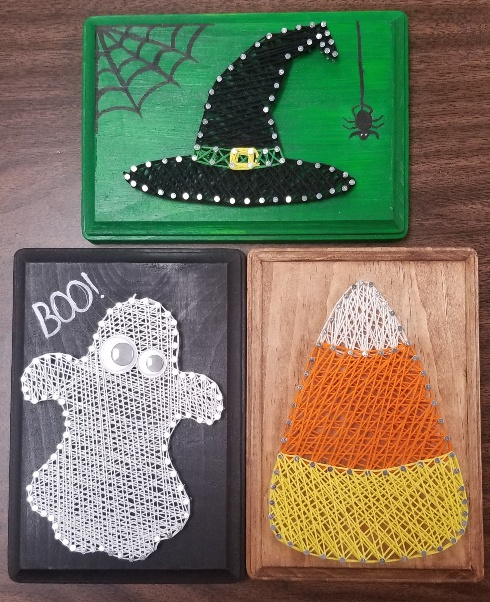 Halloween String Art : halloween, string, String, (Halloween, Patterns), Adult
