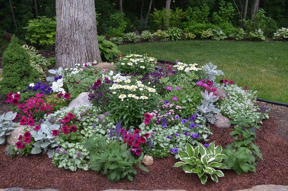 genius flower beds trees