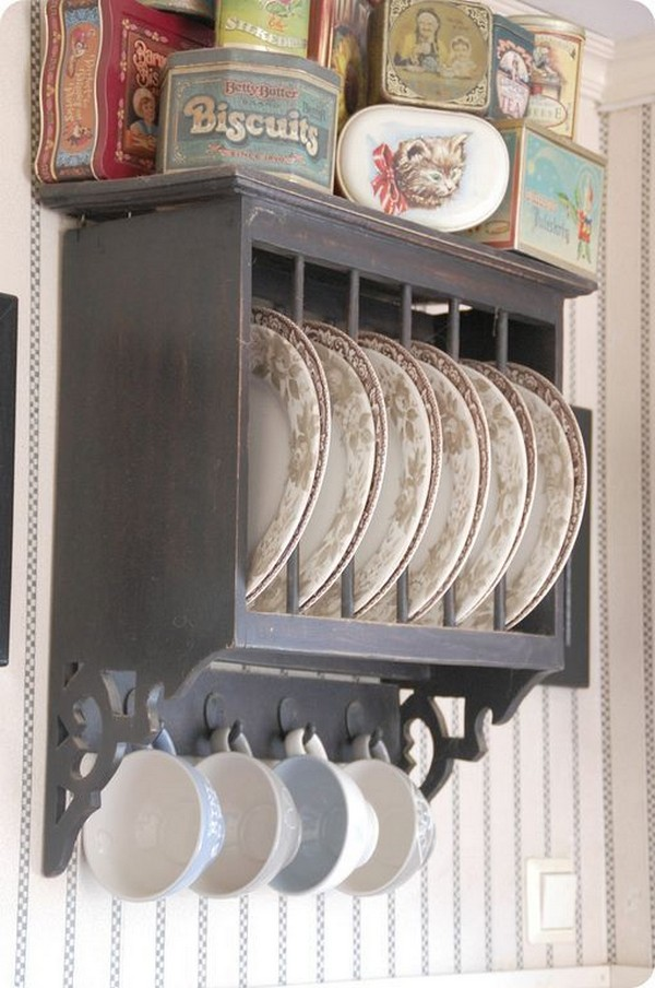 Antique Plate Rack Design Ideas For Your Vintage Kitchen
