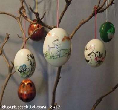 Chinese zodiac animal painted eggs
