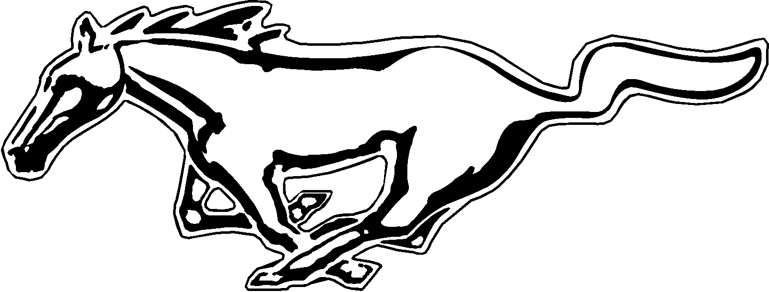 Free mustang logo coloring pages