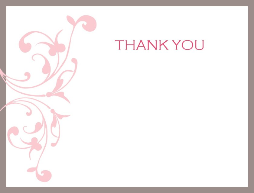 Wedding Thank You Card Printable Design