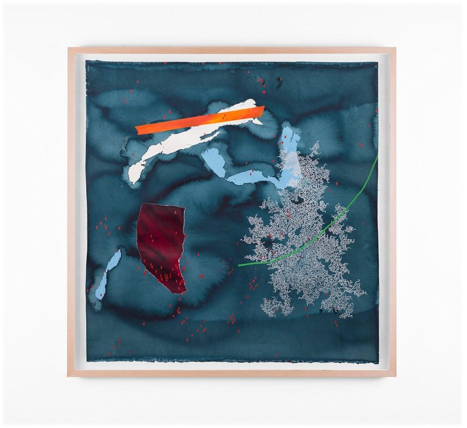"Mongezi Ncaphayi, ""Metamorphosen IV"", 2018, Indian Ink, Watercolour & Acrylic on Cotton Paper, 70 x 70 cm"