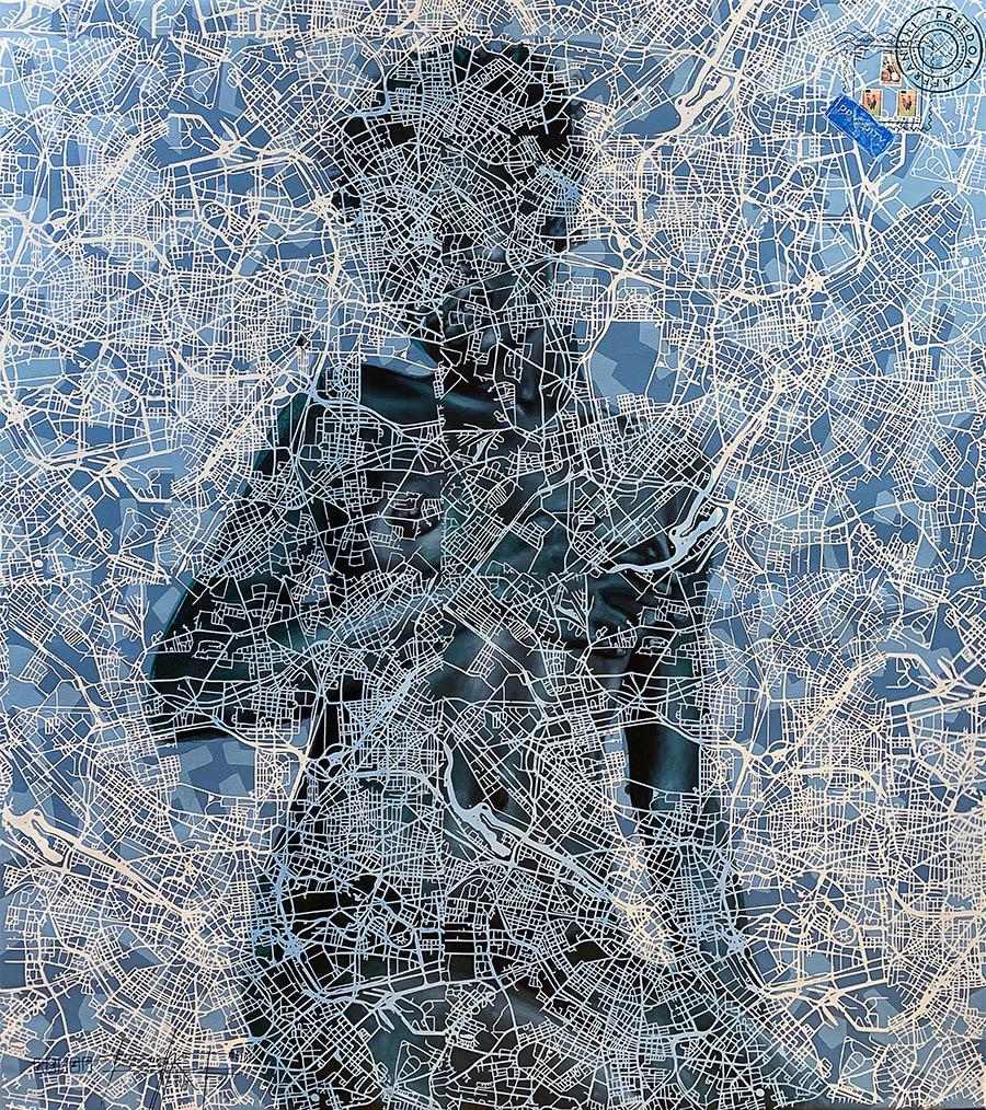"""Jean David Nkot, """"www.mentalmirage.org.com"""", 107x110, 2019"""