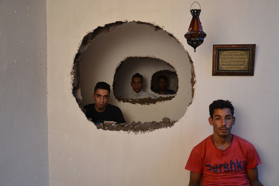"Hicham Benohoud, ""The Hole"", 2014. Argentic photography C Print. 90x60 cm."