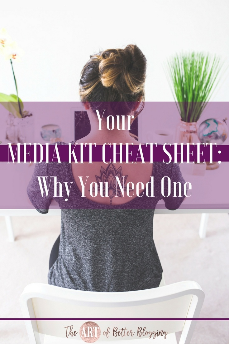 """If you've been in the blog-o-sphere for any length of time, you've inevitably heard the term """"media kit."""" It's easy to get overwhelmed with all the advice and information floating around out there. Getting started with a media kit doesn't have to be complicated. Media Kit Cheat-Sheet- What It Is, What It Needs & How to Get One - The Art of Better Blogging"""