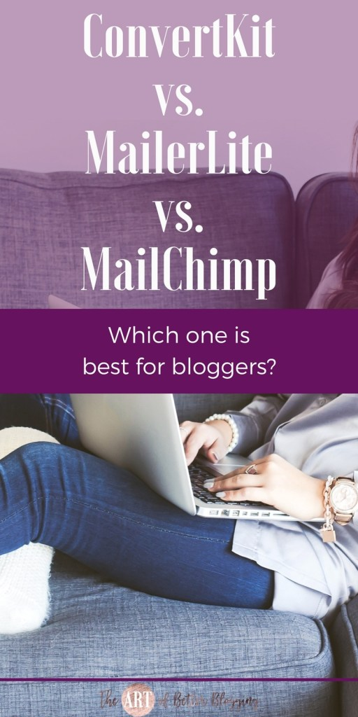 ConvertKit vs. MailerLite vs. MailChimp: How do you know who to choose as your email service provider when there are so many options out there for bloggers? Today I'm breaking down what provider is best for what stage your blog or business is in, your budget, your tech level, and desired long-term targets.