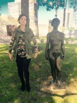 In the Cullen Sculpture Garden at the MFAH