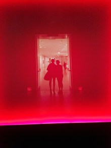 """Entering James Turrell's """"The Light Inside"""" tunnel at the MFAH"""