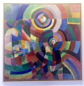 "Sonia Delaunay, ""Electric Prisms"" 1914"