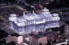 The Reichstag wrapped in Berlin, 1995
