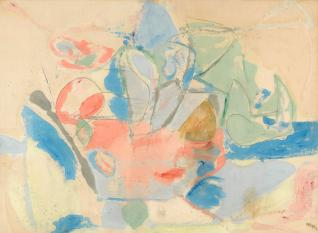 """""""Mountains and the Sea"""" 1952, from the Helen Frankenthaler Foundation"""