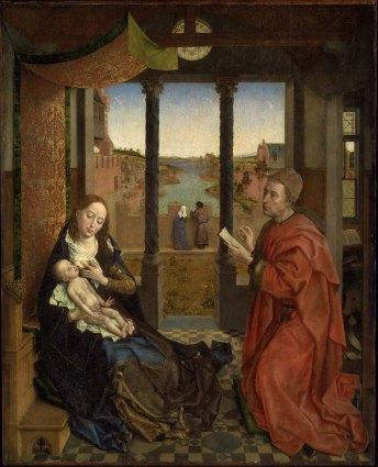 Saint Luke Drawing the Virgin, Rogier van der Weyden ca 1435-40