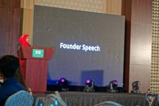 Zunira Malik doing a speech for WUD's program