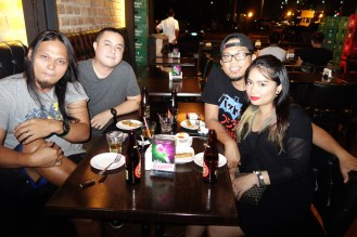 with my husband's friends, Mike Seitz and Karl of MASS HYPNOSIA (trash metal from Manila)