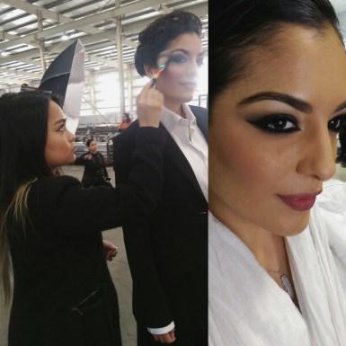 smokey eyes makeup for GLAM QATAR MAGAZINE cover