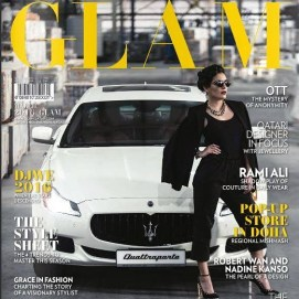 cover work for GLAM QATAR MAGAZINE