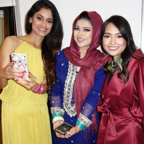 with fashion blogger GZALVOGUE and ZUNIRA MALIK for WUD'S QATAR NATIONAL DAY special. GLAM SQUAD!!!!
