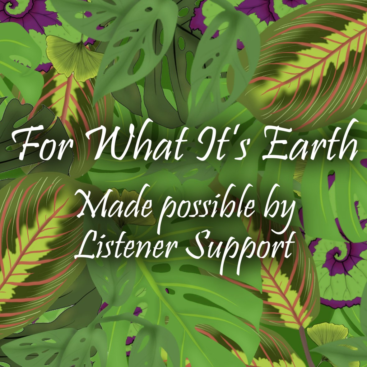 For What It's Earth podcast possible by listener support