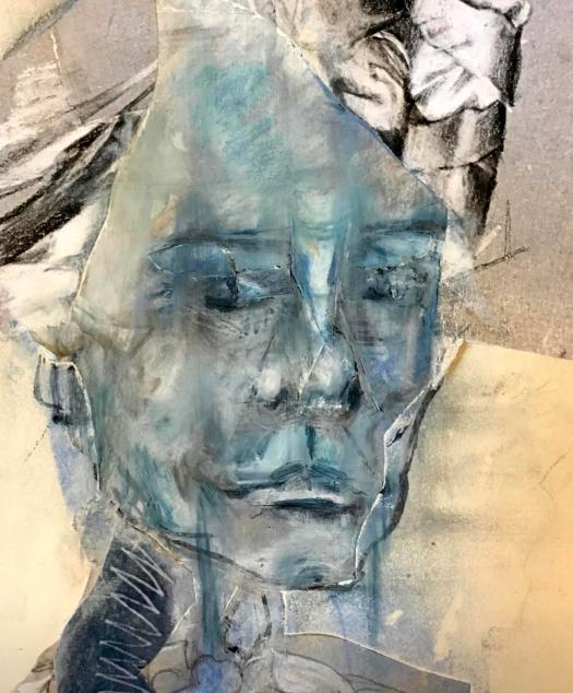mixed media portrait