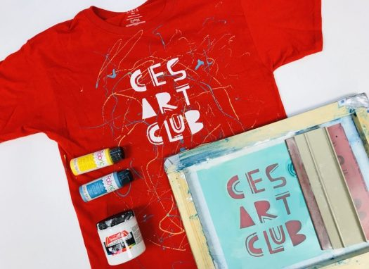 Art Club t-shirt made with screenprinting