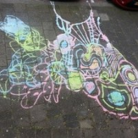 How to make Sidewalk Chalk and have some Doodle Time