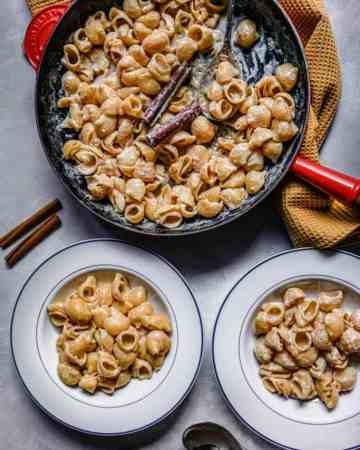 cinnamon and brown sugar pasta