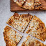 Crispy and flaky roasted cabbage stuffed savoury pancakes