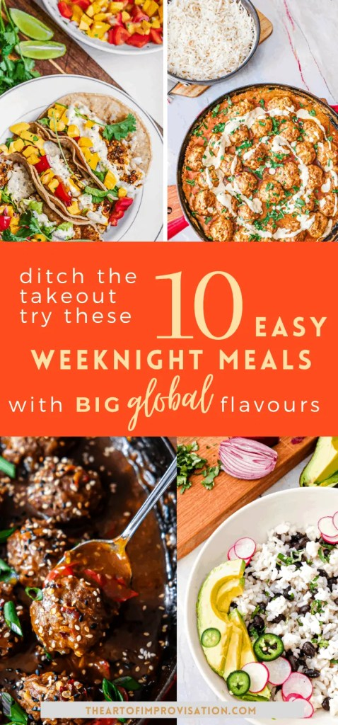 There are a few staples in our regular weeknight rotation that are easy to prepare but deliver big in flavour so we don't get bored (and order in too often). Many of them take 30 minutes or less to prepare and make great next day lunches too.